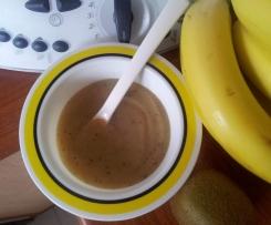 Compote pommes bananes kiwi miel