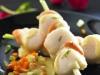 Spécial fêtes - Brochettes de Saint-Jacques, sauce citronnelle et orange