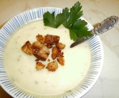 Velouté topinambour, courge Délicata (ou patidou), lait de coco