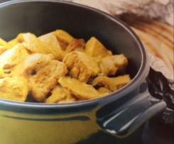 Curry de porc au lait de coco