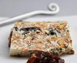 Terrine de champignons au tofu soyeux {Vegan}