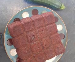 Gâteau au chocolat avec de la courgette