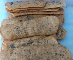 Crackers apéritif à tartiner à la farine de lentilles corail