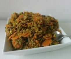 Lentilles vertes et quinoa au curry