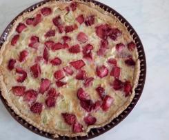 Tarte rhubarbes fraises
