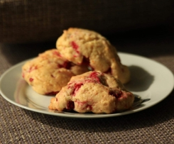 Scones aux framboises et orange