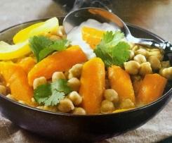 Tajine de carottes et pois chiches