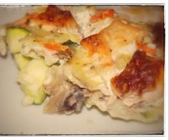 Clafoutis de saumon aux légumes