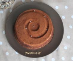 Entremet façon tiramisu (mousse mascarpone et crémeux café)