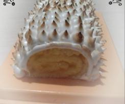 Bûche façon tarte au citron meringué