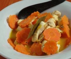 Poulet à la carotte et orange