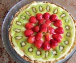 Tarte aux fraises-kiwis