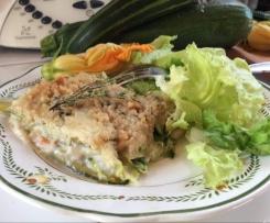 Lasagnes de courgettes au crabe