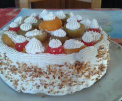Mon gâteau d'anniversaire aux fruits