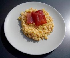 coquillettes rapides au jambon