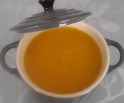 soupe citrouille aux épices   sans pdt ni matière grasse