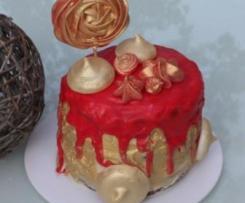 Drip cake La Belle et la Bête – Gâteau chocolat et orange – Sweet Table Anniversaire la Belle et la Bête