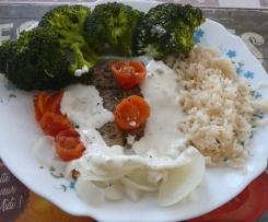 Filet de lieu noir aux légumes et son riz.