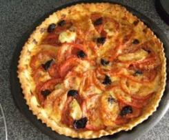 tarte aux tomates et mozzarella