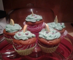 Cupcakes vanille citron bleu