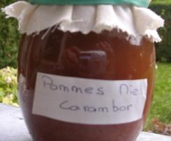 Gelée pomme - miel - carambar