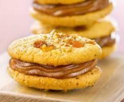 Biscuits fourrés à la crème de marron