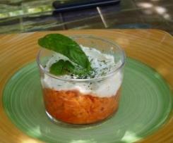 Verrine de carottes miel et mascarpone