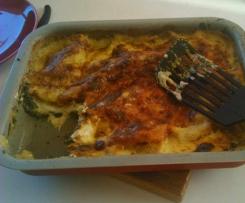 Lasagne épinards et fromage à raclette