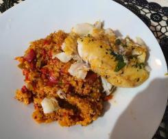 Dos de Cabillaud et Quinoa basquaise