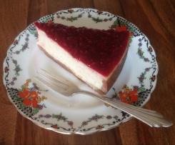 Cheesecake a la banane ( avec coulis de framboise)