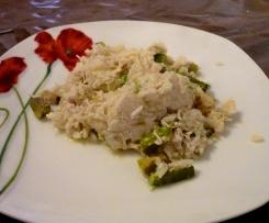 Risotto aux asperges et poulet