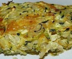 Gratin de courgettes au riz et fromage