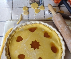 Tarte sablée à la marmelade (framboises ou prunes)