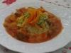 Sauté de porc sauce tomate et sa julienne de légumes