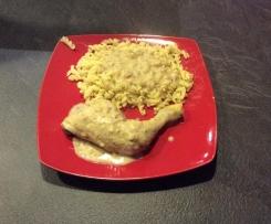 Cuisses de poulet sauce champignons.