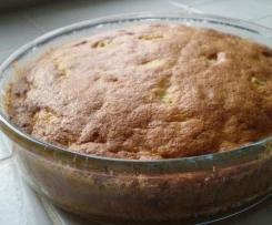 gâteau aux pommes sans matieres grasses