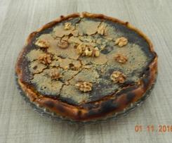 Tarte sucrée au potimarron, pommes et noix