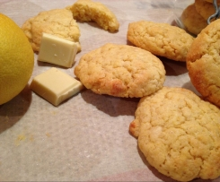 Cookie chocoblanc et citron