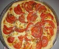 Quiche confit d'oignons / tomate / mozzarella