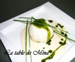 Mousseline de poisson , crème au poivre du Sichuan
