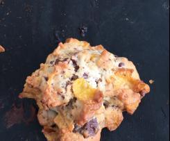 Cookies au corn flakes et chocolat