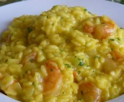 Risotto crevettes coco curry