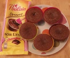 Muffin Fondant au Chocolat Carambar