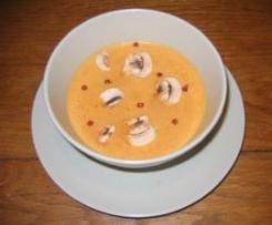 Crème de poivrons aux champignons et gingembre