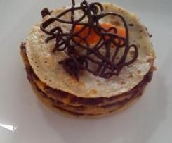 crepes tatins de clémentines, chocolat