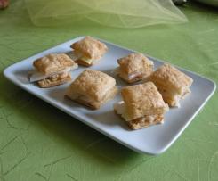 Feuilleté de poireaux à la confiture d'oignons