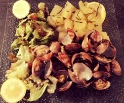 Palourdes en vapeur de citron et pommes de terre