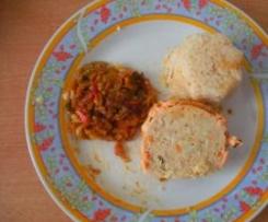 délice de saumon st jacques avec son riz et ses petits légumes