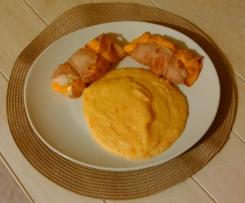 Roulés de poulet au jambon et Purée