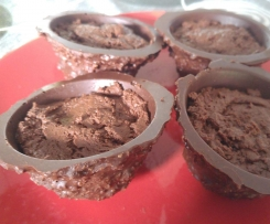 mousses au chocolat light dans leurs bols gourmands